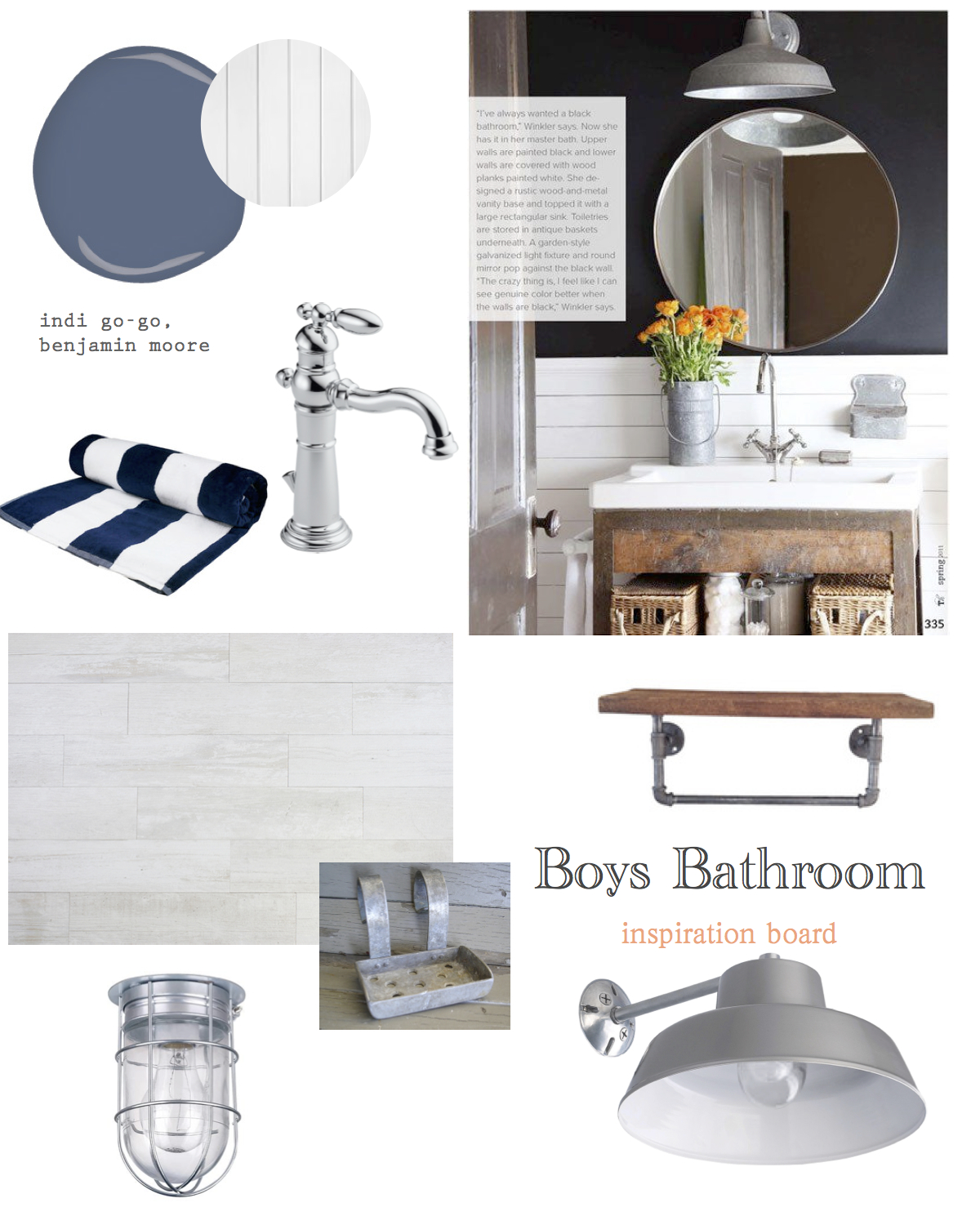 boys bath mood board
