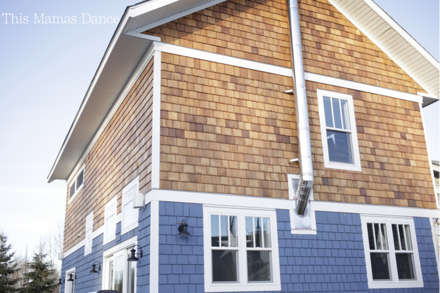 cedar siding blue and natural