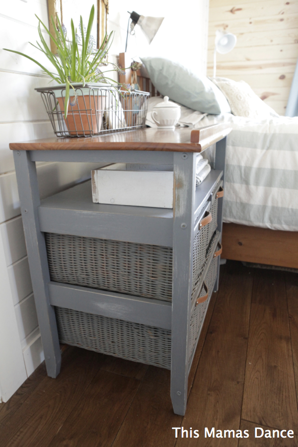 grey wicker drawer