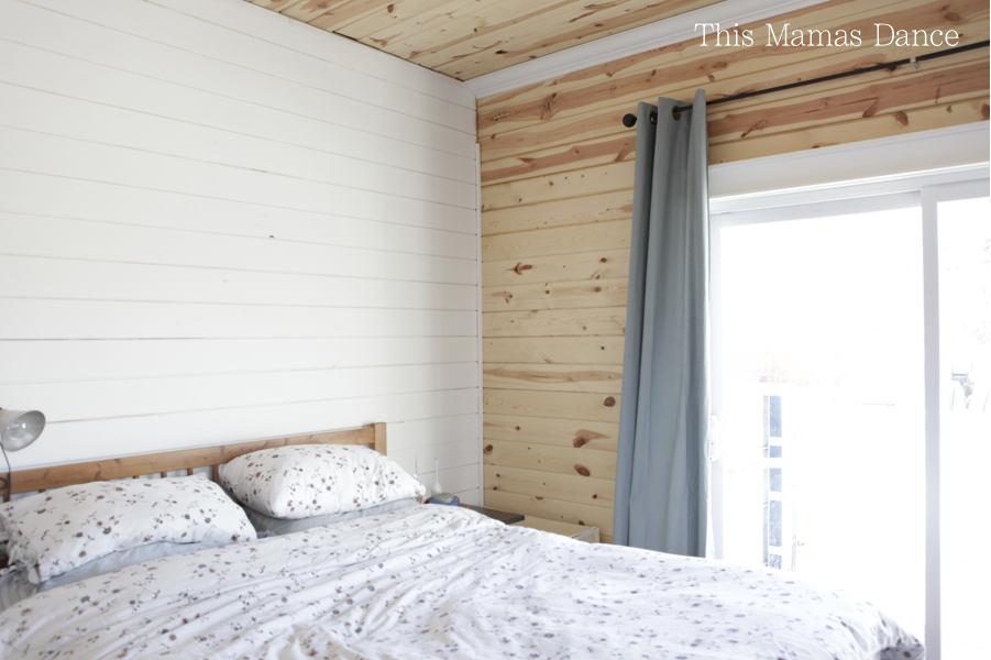 painted pine bedroom