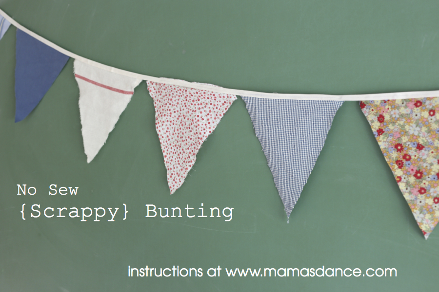 scrappy bunting tutorial