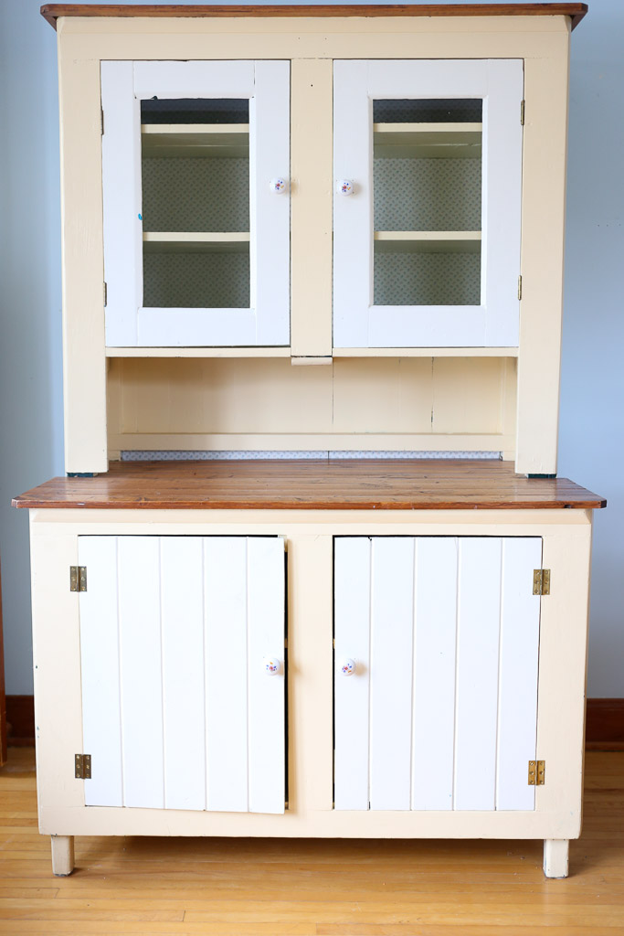 Farmhouse Hutch, cream and yellow-7