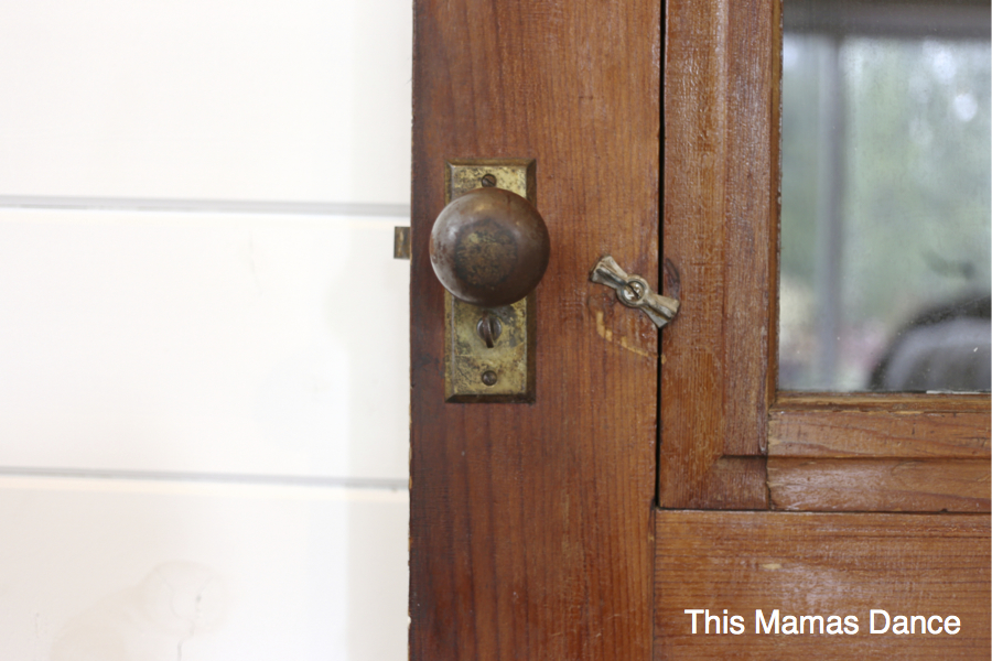 antique storm door handle