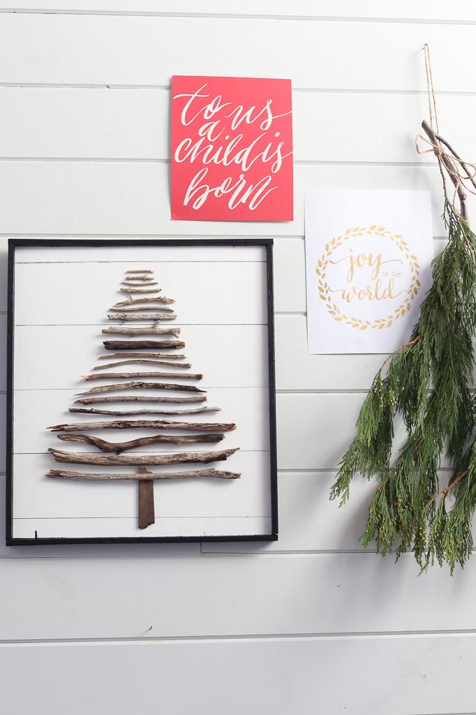 DIY Twig Tree, faux shiplap| This Mamas Dance-6