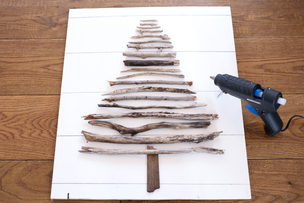 DIY Twig Tree, with faux shiplap| This Mamas Dance-6