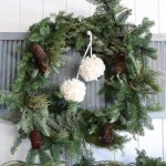 Fresh Wreath, yarn Pom Poms-1