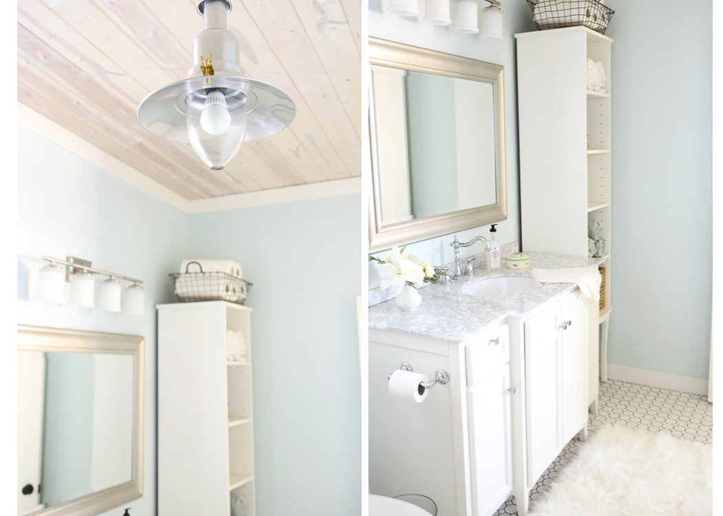 Cottage Style Family Bathroom finishes| This Mamas Dance