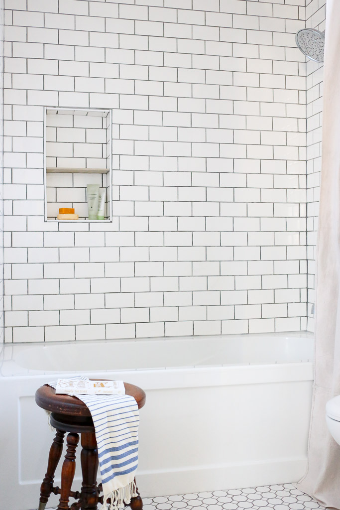 White Subway Tile Gray grout-1