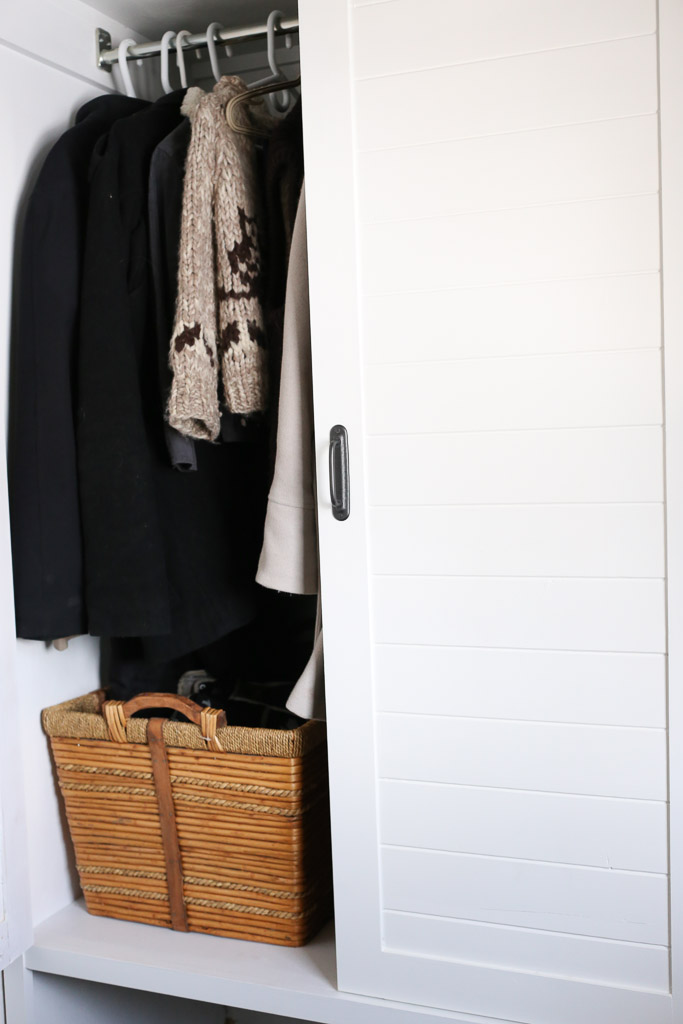 White and Black Small Mudroom with Built Ins | This Mamas Dance-7