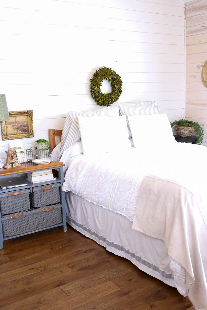 Use A Bed Skirt to Hide Unsightly Frame