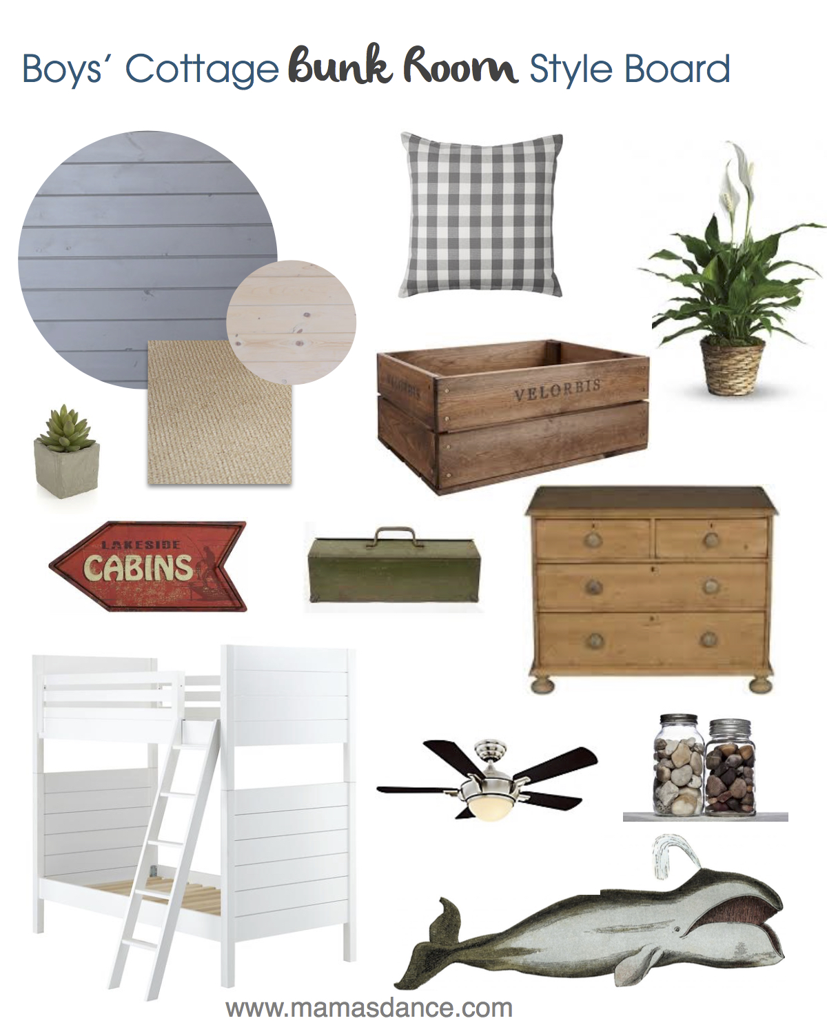 Cottage Bunk Room Style Board
