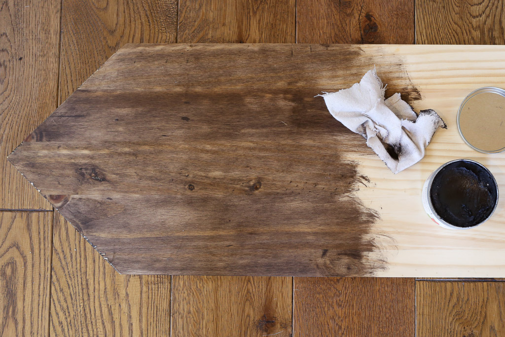DIY Wood Sign, Antiquing wax as stain|This Mamas Dance-1