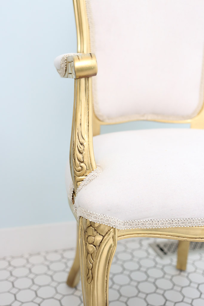 French Chair with Bleached Drop Cloth Upholstery| This Mamas Dance-8
