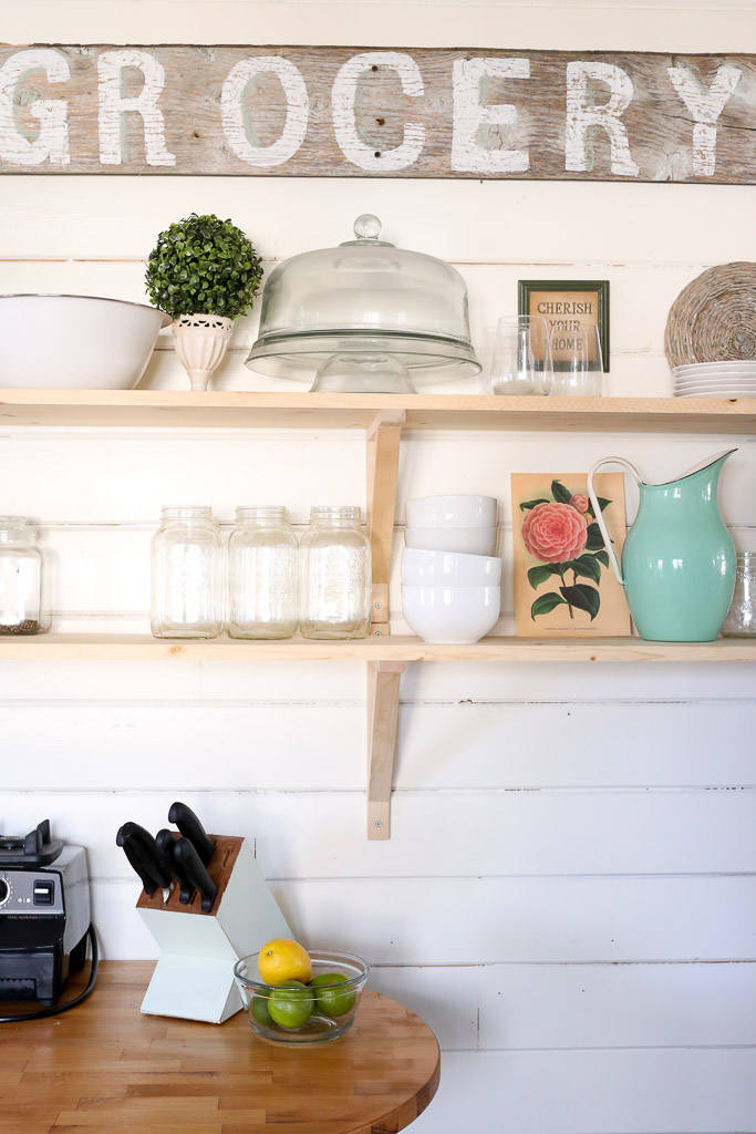 Open shelves in a white kitchen-5