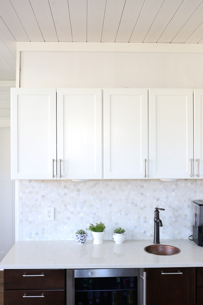 White Upper Cabinets, Dark Wood Lower Cabinets|This Mamas Dance-4