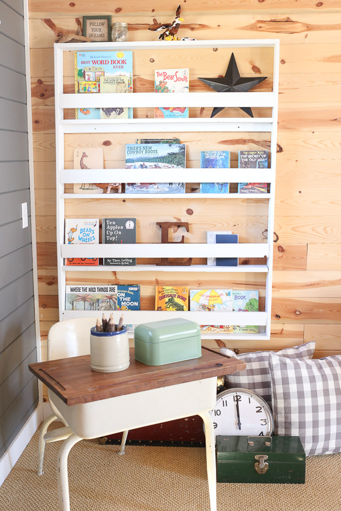 White Wall Book Shelf, Kids Room| Mamas Dance-1