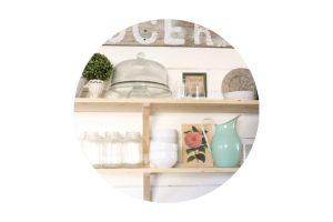 How to Use, Love, and Live with Open Kitchen Shelves as a NON Neat Freak