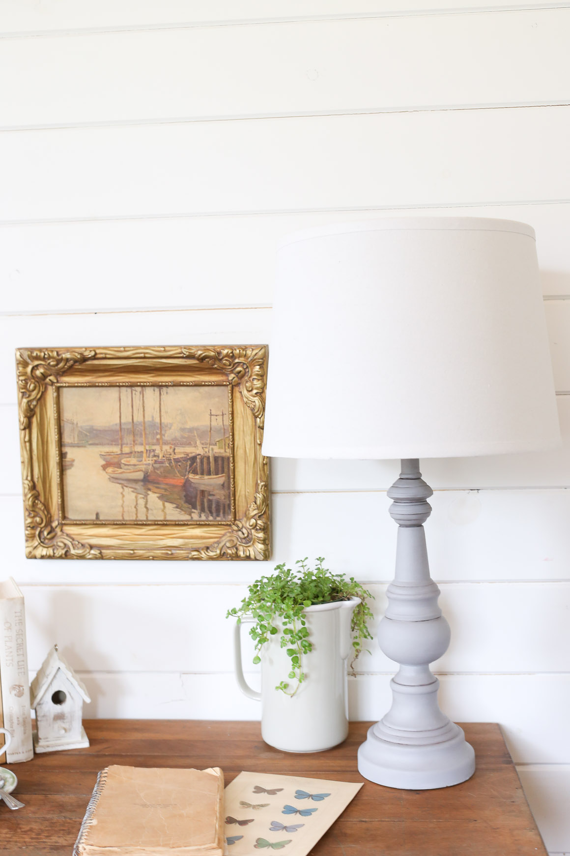 Refinished Table Lamp |This Mamas Dance