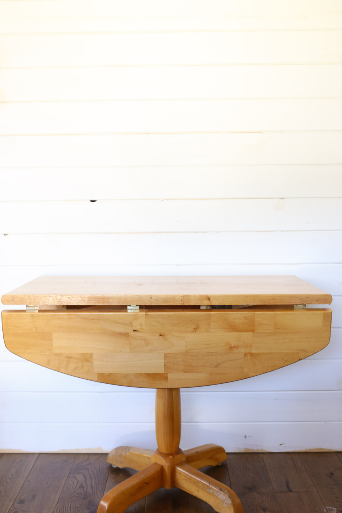 Pine Pedestal Table Before |This Mamas Dance-1