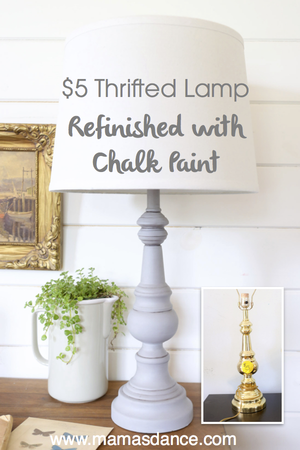 Refinish an inexpensive lamp with chalk paint