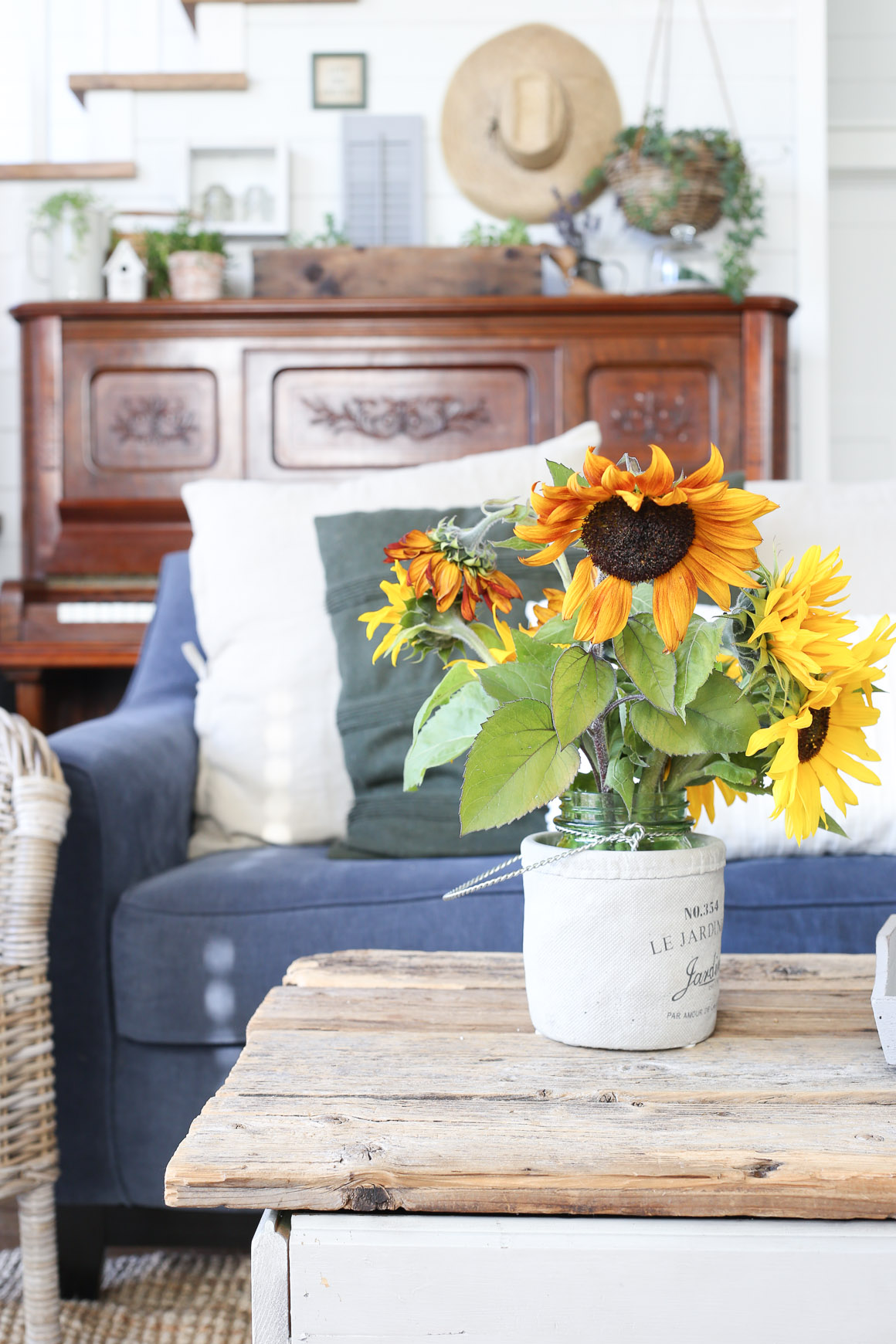 fall-living-room-sunflowers-grey-and-blue-this-mamas-dance-11
