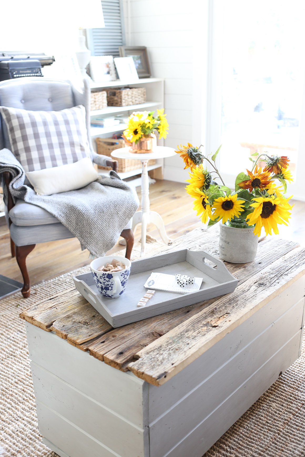 fall-living-room-sunflowers-grey-and-blue-this-mamas-dance-3