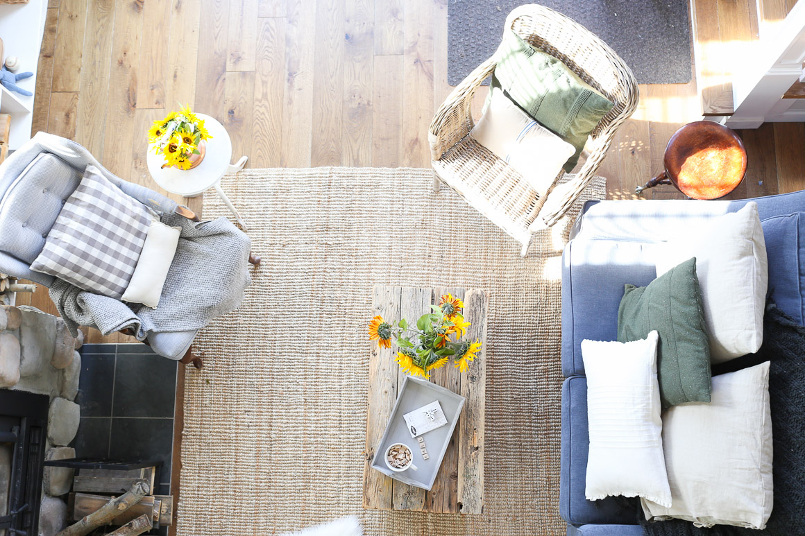 fall-living-room-sunflowers-grey-and-blue-this-mamas-dance-5