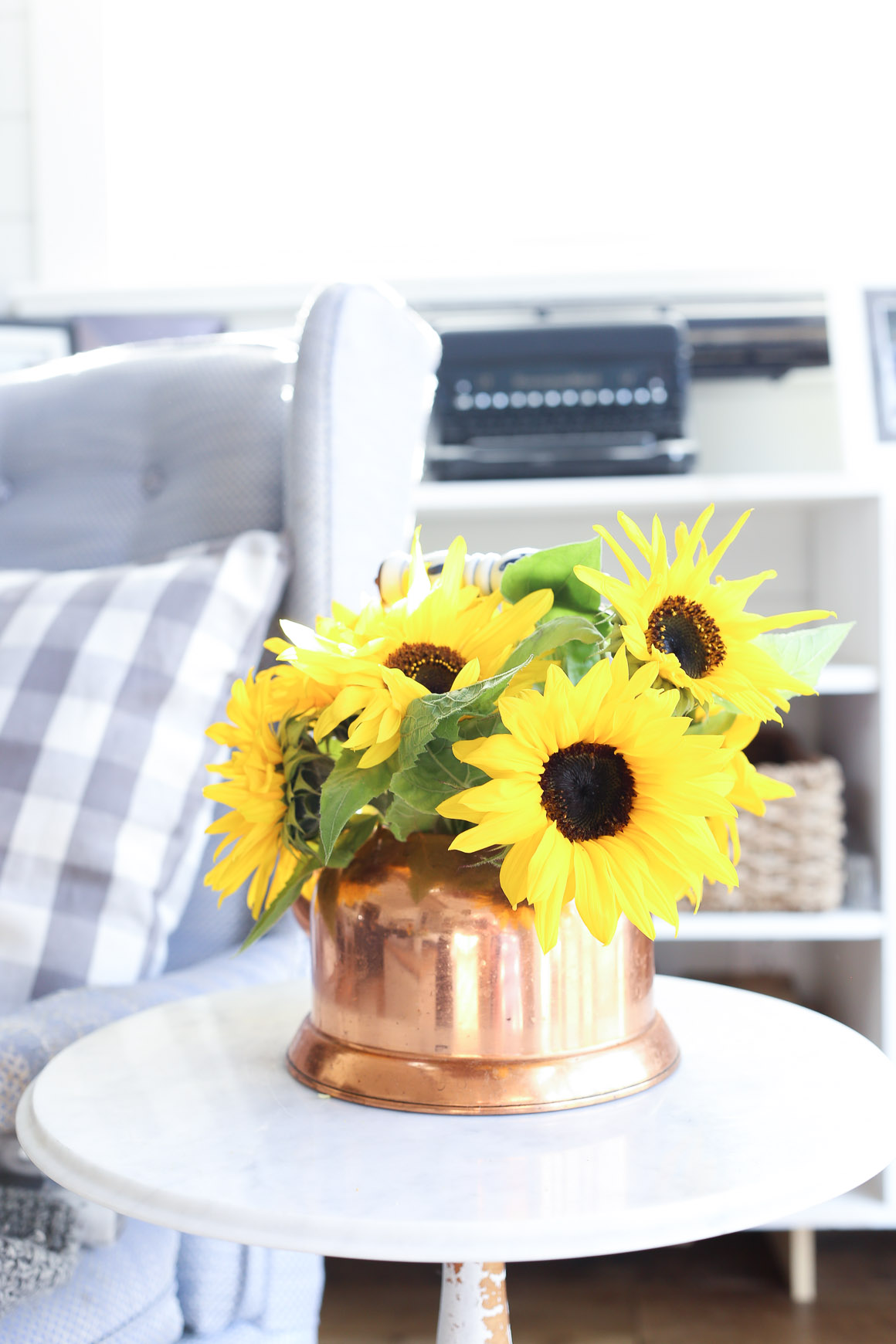 fall-living-room-sunflowers-grey-and-blue-this-mamas-dance-6