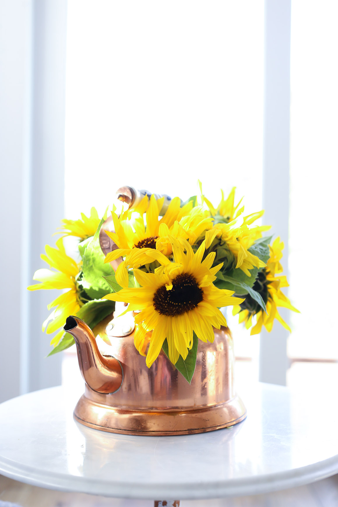 fall-living-room-sunflowers-grey-and-blue-this-mamas-dance-7