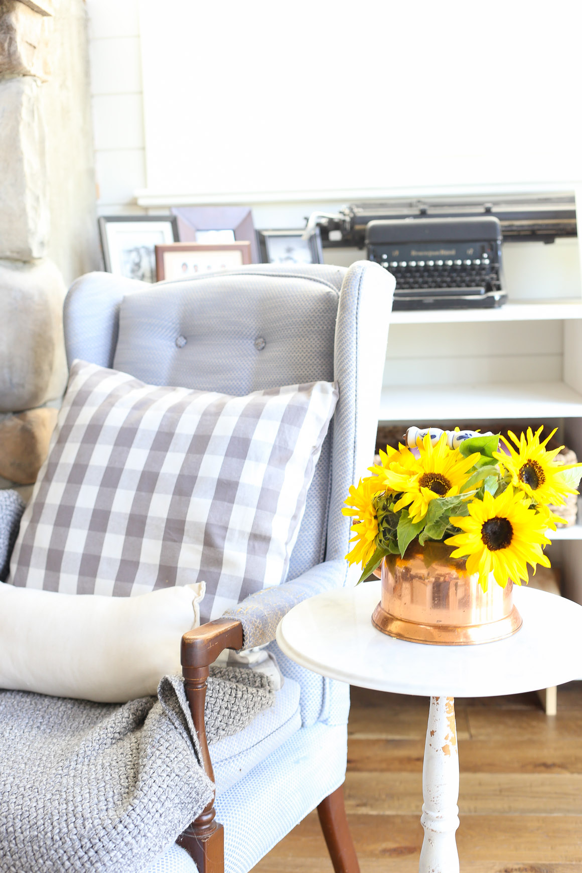 fall-living-room-sunflowers-grey-and-blue-this-mamas-dance-9