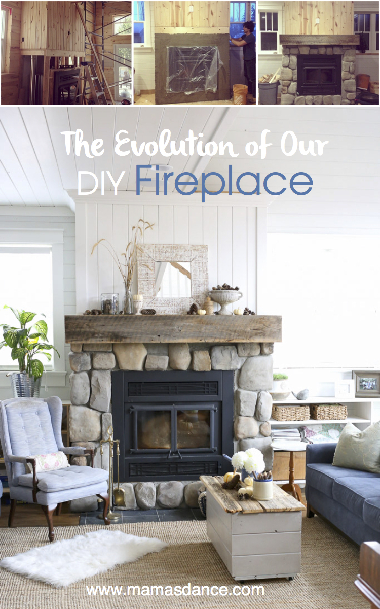 The Steps for Building a New Fireplace DIY Style, via Ashlea of This Mamas Dance