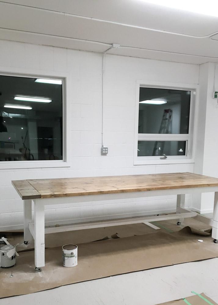 Hand Built Farmhouse Tables | via Ashlea of This Mamas Dance
